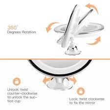 10X Magnifying 360 Degree Rotating LED Lighted Round ... - Vova