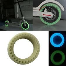 NEW <b>Luminous</b> Fluorescent Hollow <b>Solid</b> Wheel Tires For Xiaomi ...