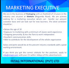 marketing executive eazyjobs job description
