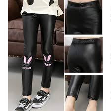 Online Shop Spring <b>Autumn Girls Leggings</b> Faux Leather PU ...