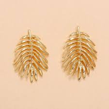 retro metal <b>leaf shape</b> earrings <b>fashion</b> simple <b>creative</b> design maple ...