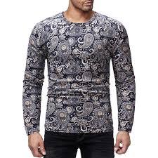 <b>Mens</b> Casual <b>Dress Shirts 2019</b> Summer <b>New</b> Paisley Hawaiian ...