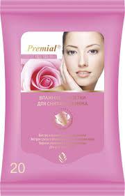 <b>Premial Салфетки</b> для снятия макияжа, 20 шт — купить в ...