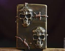 """Купить под заказ - <b>зажигалка ZIPPO</b> - """"Два черепа """" - череп ..."""