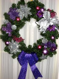 christmas wreath evenly hot pink  img  hot pink