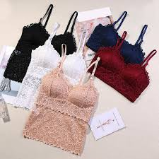 <b>Women Lace Tube Top</b> Flower Camisoles Sexy Crop Top Female ...