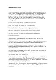 personal objectives examples for resume examples resumes personal objectives examples for resume resume template good objectives for resumes eltermometro resume samples receptionist
