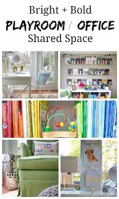 our juxtaposition of a room happens to be the most valuable square footage in our home the playroomoffice combo it seems nonsensical but for us bonus room playroom office
