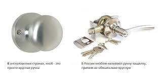 <b>Ручки</b>-защелки (кнобы) или <b>раздельная дверная</b> фурнитура