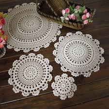 table mats yazi embroidered font flower