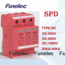 <b>DC</b> 3P 20KA~40KA 1000V <b>DC</b> Surge Protector protection Low ...