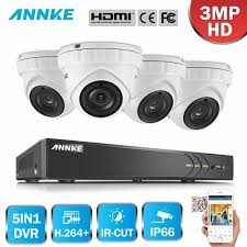 annke new 8ch hd 3mp 5in1 dvr cctv 8pcs 1080p tvi security camera pir detection ip67 outdoor home video surveillance system kit