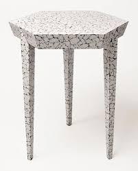 Simon Orrell, Hexagonal Side Table in <b>Cracked Eggshell</b>. | Cascara ...