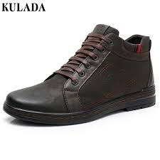 <b>KULADA</b> Hot <b>Top Quality</b> Men Boots Men <b>Winter</b> Thick Fur Ankle ...