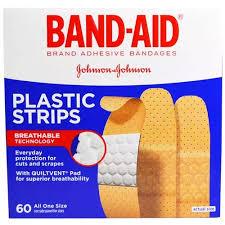 Band Aid <b>Adhesive Bandages Plastic</b> Strips