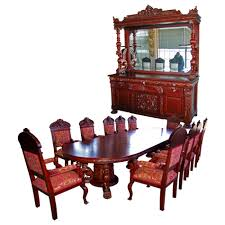 Lane Dining Room Sets 7694 French Art Nouveau Louis Majorelle Signed 11 Piece Dining Set