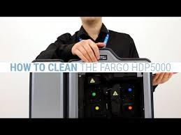 How to Clean the <b>Fargo HDP5000</b> ID Card Printer - YouTube