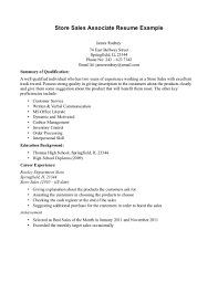 cover letter sample resume for s sample resume for s cover letter sample resume retail s associate no experience sample store example ssample resume for s