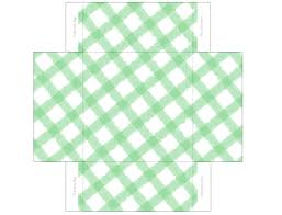 printable templates gingham mini gift boxes pecuniarities green gingham gift box