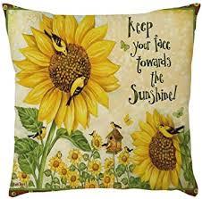 Viahwyt <b>Sunflower Print</b> Cushion Cover 45x45cm Home Car Bed ...