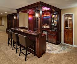Stunning In Home Bar Regarding  E