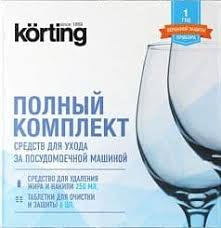 <b>Комплект</b> средств для <b>ухода</b> за посудомоечной машиной Korting ...