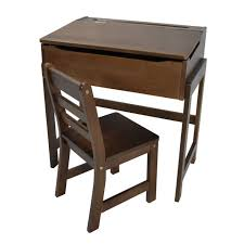 s childrens wooden school desk chair kids desk chair casual home childs slanted top wood student study scho