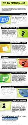 tips on getting a job visual ly tips on getting a job infographic