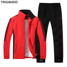 YIHUAHOO Plus Size <b>4XL 5XL Spring Autumn</b> Tracksuit <b>Men</b> Two ...