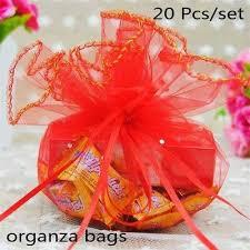 <b>20 Pcs</b>/<b>lot Organza</b> Bags Creative Quality Xmas Candy <b>Package</b> ...