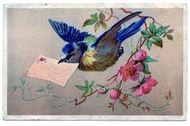 Image result for vintage bird flying