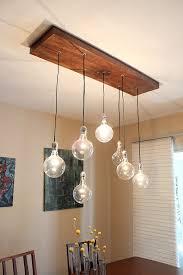 glass transparent materials globe shapes rustic modern chandelier rectangle wood idea cheap rustic lighting