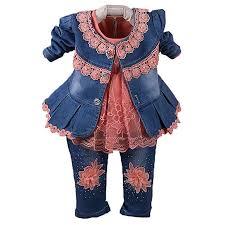 Spring Autumn Infant Little Baby Girls Clothing Set 3 ... - Amazon.com