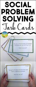must see problem solving activities pins impulse control social scenario problem solving task cards