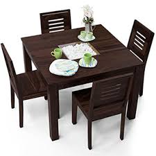 dining sets seater: brighton square capra  seater dining table set mahogany finish