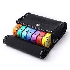 <b>28 Grids</b> Portable 7-Day Colorful Drawer Moisture-Proof <b>Plastic Pill</b> ...
