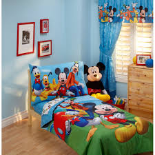 disney mickey mouse playground pals 4pc toddler bedding set walmartcom baby mickey crib set design