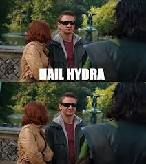 "HailHydra. This is me when a friend whispers ""Hail Hydra"" to me ... via Relatably.com"