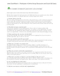 best photos of interview questions and answers common job interview questions and answers examples