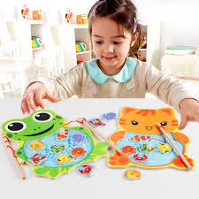 <b>Baby</b> Wooden Toys <b>Magnetic Fishing</b> Game 3D Jigsaw Puzzle ...
