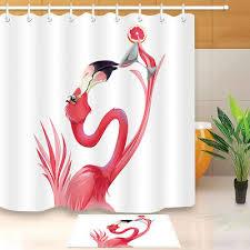 Смешные <b>Фламинго</b> занавески ткань подкладка +12 <b>крючки</b> ...