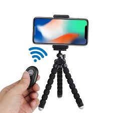 """6.5"""" inch Flexible <b>Tripod with</b> Universal Mount for Smartphones and ..."""