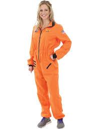 Ladies Orange Astronaut Spaceman Space NASA Halloween Costume.