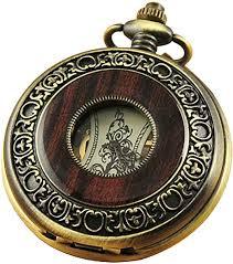 VIGOROSO Men's Hand-Wind Mechanical Pocket Watch <b>Vintage</b>