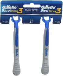 <b>Gillette Blue Simple 3</b> Shaving Razor : Buy Online Men's Grooming ...