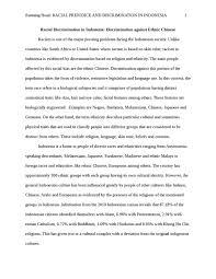 racial prejudice and discrimination in indonesia sociology essay    racial prejudice and discrimination in indonesia essay example