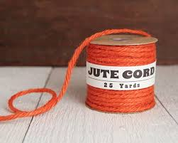 Macrame Cord <b>5</b> Ply Jute Rope Pumpkin Orange <b>25 Yards</b>   Etsy