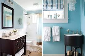 Small Bathrooms Light Blue And Brown Color Schemes  H