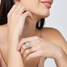 <b>Позолоченное кольцо</b> Manhattan - купить за 4 400 руб. в Москве