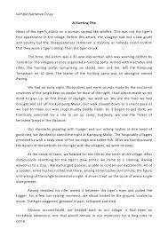 sample personal narrative essay narrative essay format